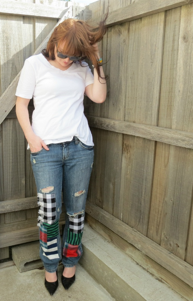 junya watanabe patchwork denim the kirby bee diy outfit post two