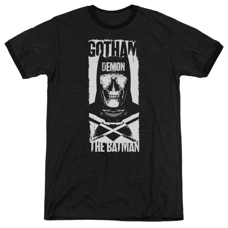 Batman V Superman - Demon Bat Adult Ringer T- Shirt