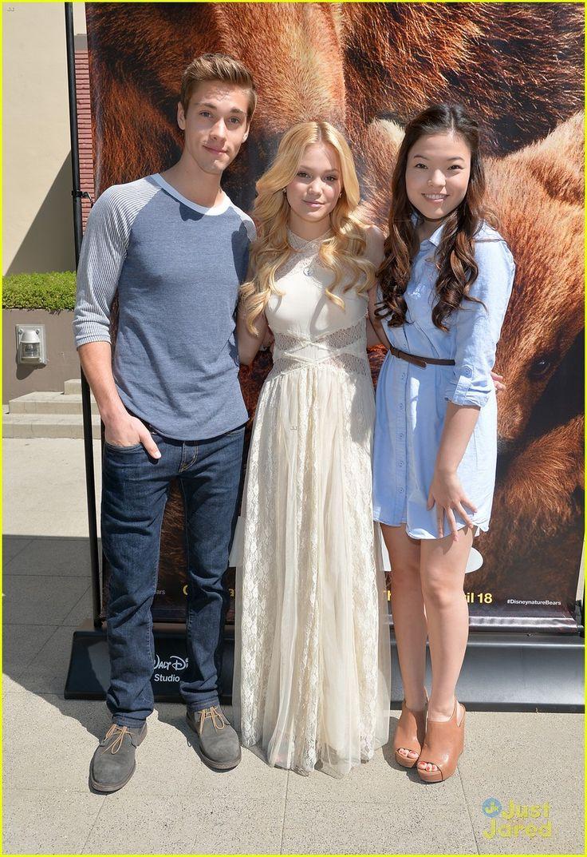 Austin North,Olivia Holt & Piper Curda - Disneynature movie Bears at the Walt Disney Studios Main Theatre
