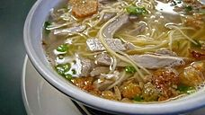 Batchoy is a noodle soup made with pork organs, crushed pork cracklings, chicken stock, beef loin and round noodles. Its origins can be traced to the district of La Paz, Iloilo City in the Philippines, hence it is often referred to as La Paz Batchoy.