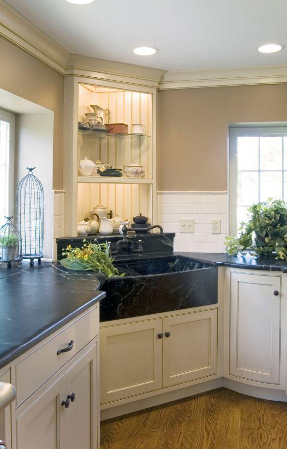 Soapstone Farmhouse Apron Front Sink Kitchen Renovation Collegeville PA
