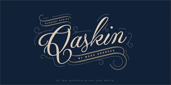 Image for Qaskin Black Personal Use font