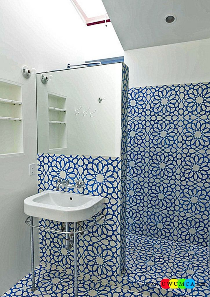 Bathroom:Decorating Modern Summer Bathroom Decor Style Tropical Bath Tubs Ideas Contemporary Bathrooms Interior Minimalist Design Decoration Plans Bold Tile In A Small Bathroom Cool and Cozy Summer Bathroom Style : Modern Seasonal Decor Ideas