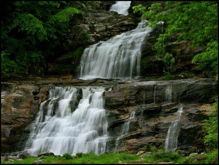 Kent Falls (Kent); Yantic Falls (Norwich), Diana's Pool (Chaplin), Wadsworth (Middlefield), Roaring Brook Falls (Cheshire), Southford Falls (Southford), Enders Falls (Granby), Campbells Falls (Norfolk), Mill Pond Falls (Newington), Great Falls (Falls Village), Buttermilk Falls (Plymouth), Westfield Falls (Middletown), Chapman Falls (East Haddam)