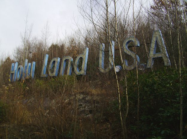 In Waterbury, Conn., there's an abandoned park called Holy Land U.S.A. It's a Bible theme park that was built in 1940 and was closed in 1984.