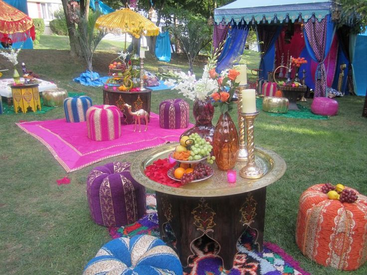 Moroccan party decor and centerpieces diy pinterest for Arabian party decoration