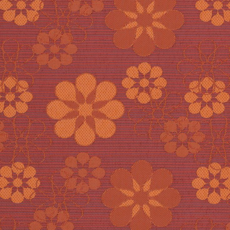 Curtain+Call+Red+and+Orange+Floral+Woven+Upholstery+Fabric