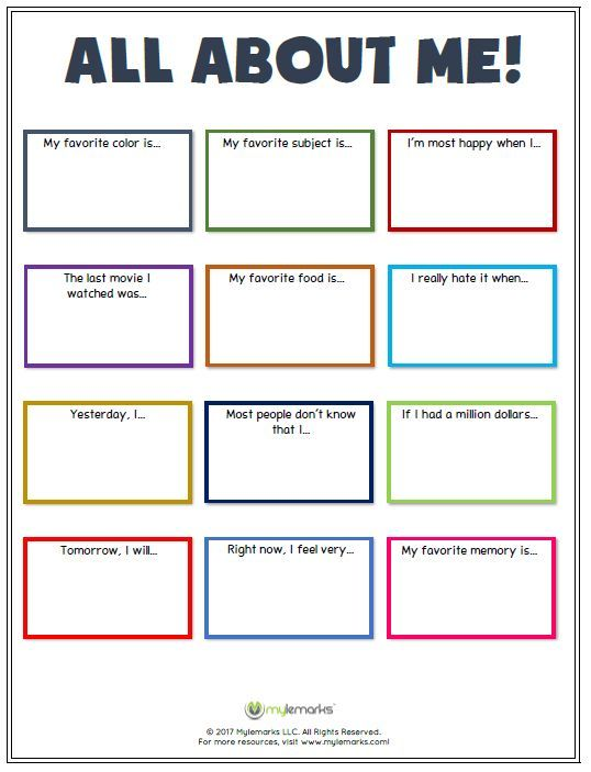 Great Ice Breaker Worksheet To Help Kids Learn More About