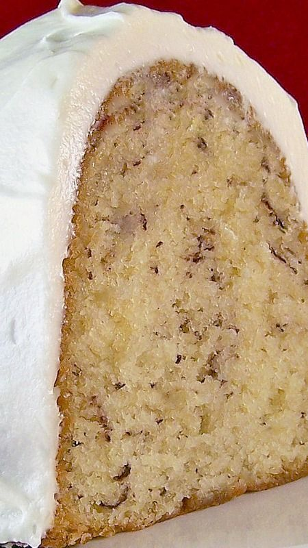 Banana Cake with Cream Cheese Icing ~ super-simple and moist... one of the BEST cakes ever... my Nonnie used to make this