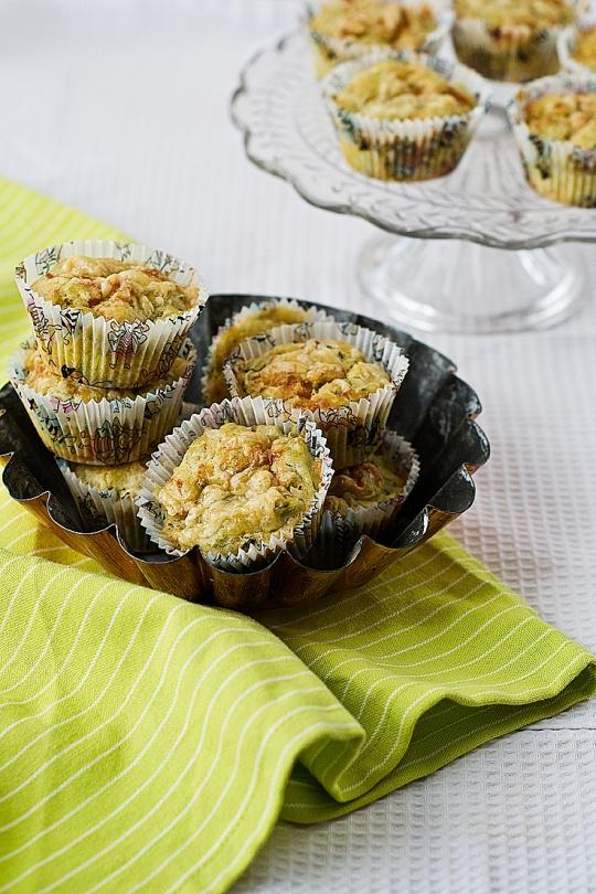 Muffins calabacín y gruyere