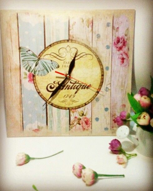 Clock face #egloryproject #decoupage #indonesia #diy