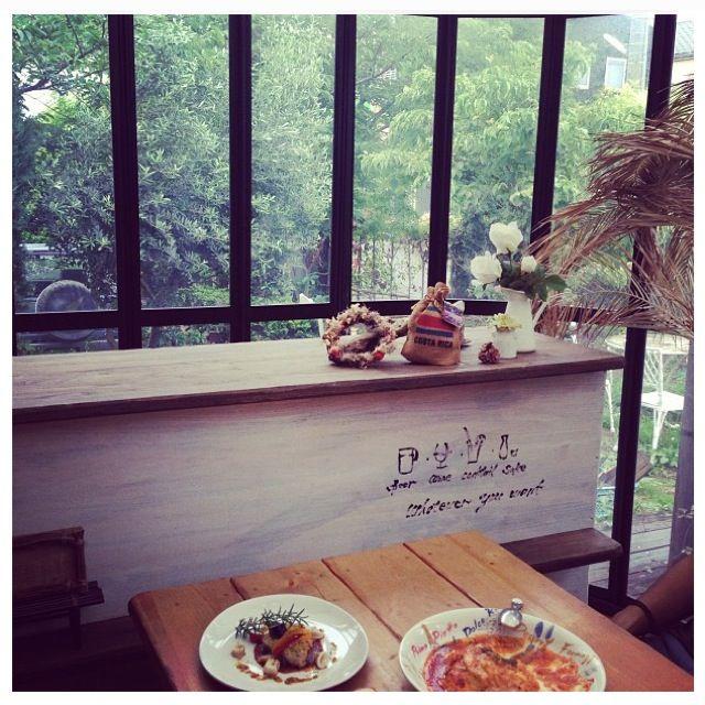 木の見えるカフェ photo by instagram
