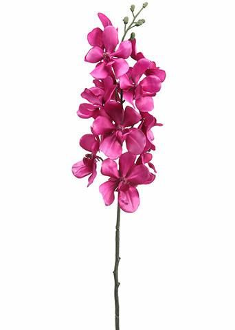 """Artificial Orchid Vanda Spray in Orchid Pink 2.5-3"""" Blooms x 28.5"""" Tall"""