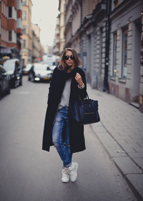 chic with the right outfit and a #lucianobrachini #sneakers