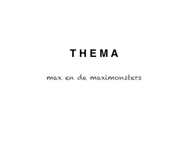 Lesideeën omtrent het thema max en de maximonsters