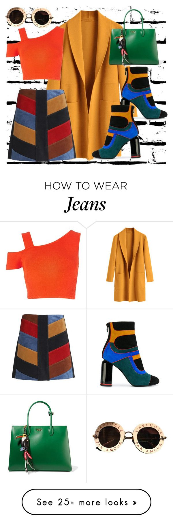 """""""Color Power !"""" by nova5ta5ia on Polyvore featuring M.i.h Jeans, Prada, Pierre Hardy, River Island, Gucci, girlpower and powerlook"""