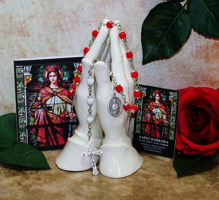 Unbreakable Catholic Chaplet of St. Barbara - Patron Saint of  Firefighters, Architects, Masons and Protection From Hurricanes & Storms by foodforthesoul on Etsy