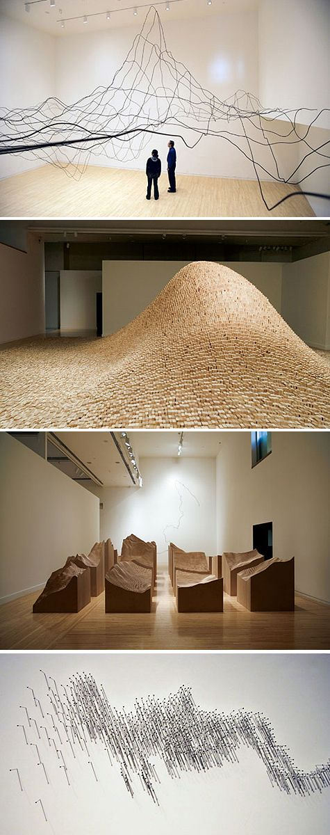 tangible viz - Maya Lin - Systematic Landscapes (existing landscape data transformed; assuming its based on topo data)