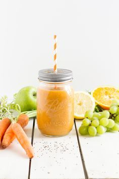 Smoothie mit Karotten Apfel & Orange #Rezept