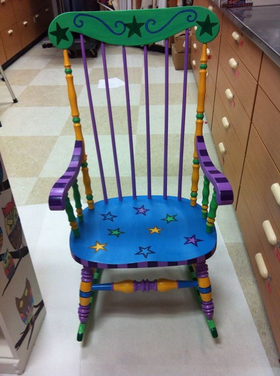 Teacher Rocking Chair on Etsy, $150.00