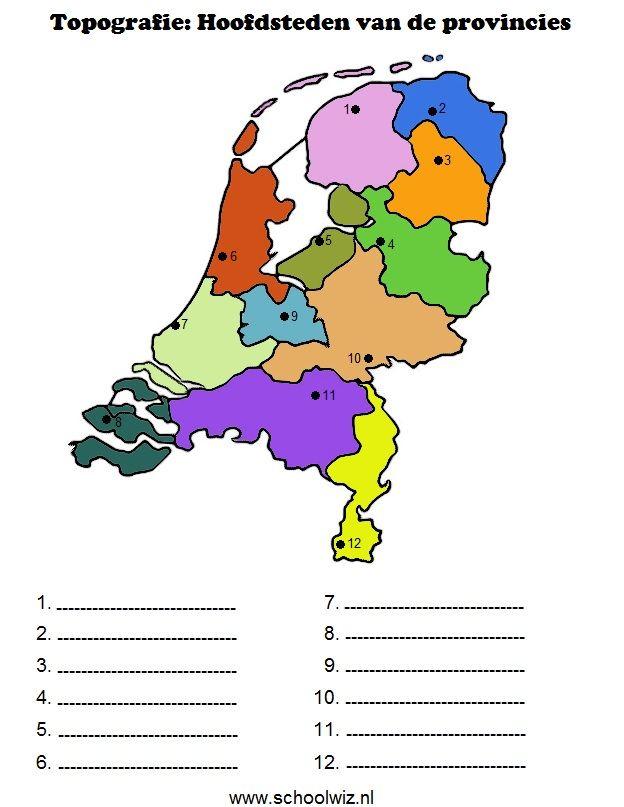 Topografie hoofdsteden van de provincies.jpg 624×807 pixels