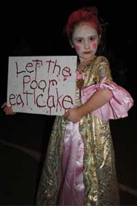 Marie Antoinette Costume During Halloween Weekends At Lake Rudolph Campground RV Resort
