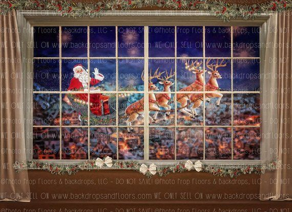 8x12 FT Fantasy Vinyl Photography Background Backdrops,Santa Claus is Coming to Town with a Bunch of Gifts in Winter Abstract Art Print Background for Photo Backdrop Studio Props Photo Backdrop Wall