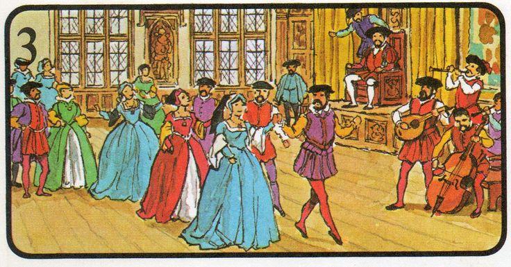 Los gobernantes ingleses fueron buenos patronos de los músicos. El rey Enrique VIII fue un buen compositor y músico. Escribió música religiosa, canciones y música para danzas como la que se muestra arriba. Se dice a menudo que el reinado de su hija Isabel 1 fue la época de mayor esplendor en la música inglesa; en esta época vivieron algunos de los mejores compositores