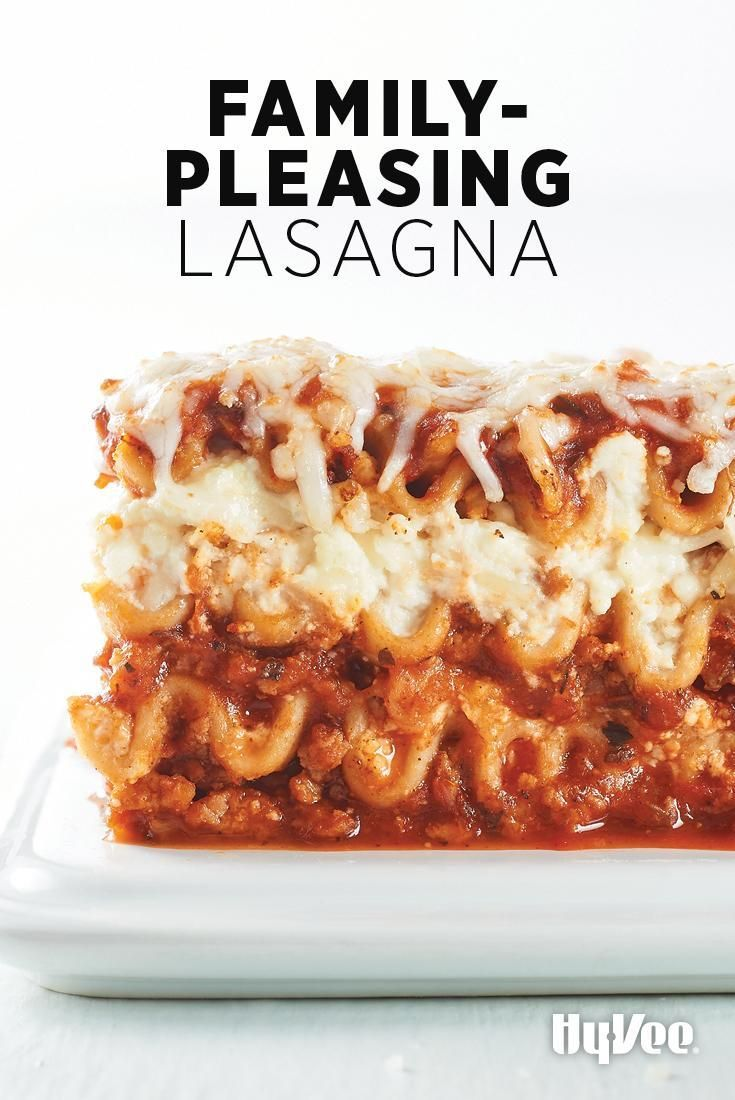 Make a few pans of Family-Pleasing Lasagna and stick them in the freezer. Dinner is already made for those busy nights when you don't have time to cook.
