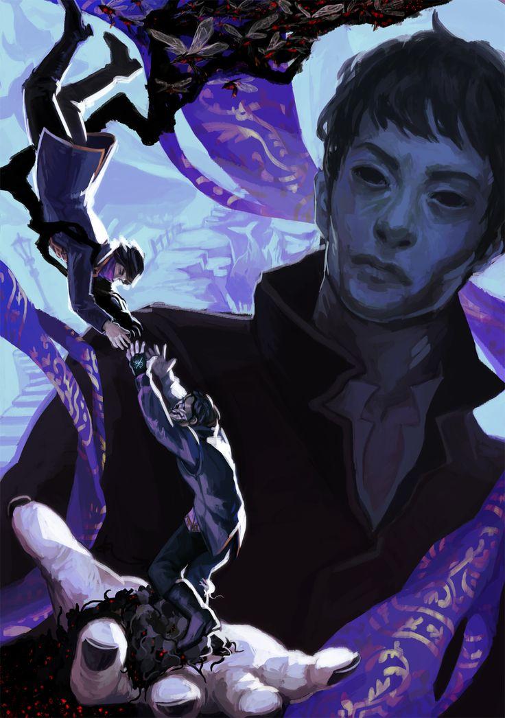 Dishonored 2 Fan Art // Outsider, Emily Kaldwin and Corvo Attano