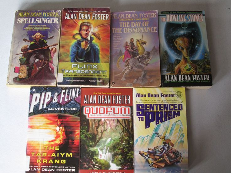 ALAN DEAN FOSTER LOT OF 7 PAPERBACKS Flinx Howling Stones Sentenced to Prism