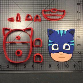 PJ Mask- Cat Boy Cookie Cutter Set JBCookieCutters.com customizes moldings, cookie cutters, cookie cutter, cutters, cutter, silicone mold, silicone molds, stencil, stencils, baking supplies, baking