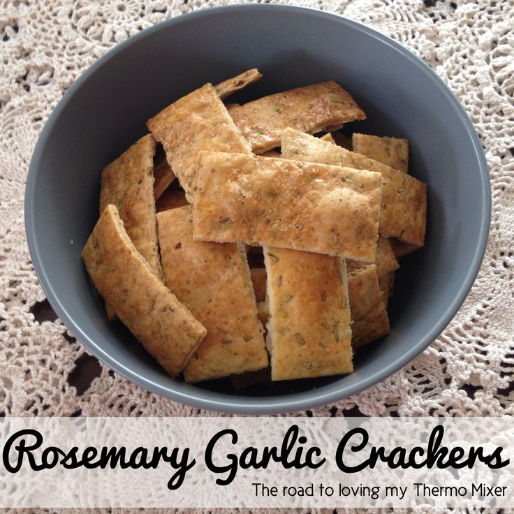 Rosemary Garlic Crackers - The Road to Loving My Thermo Mixer