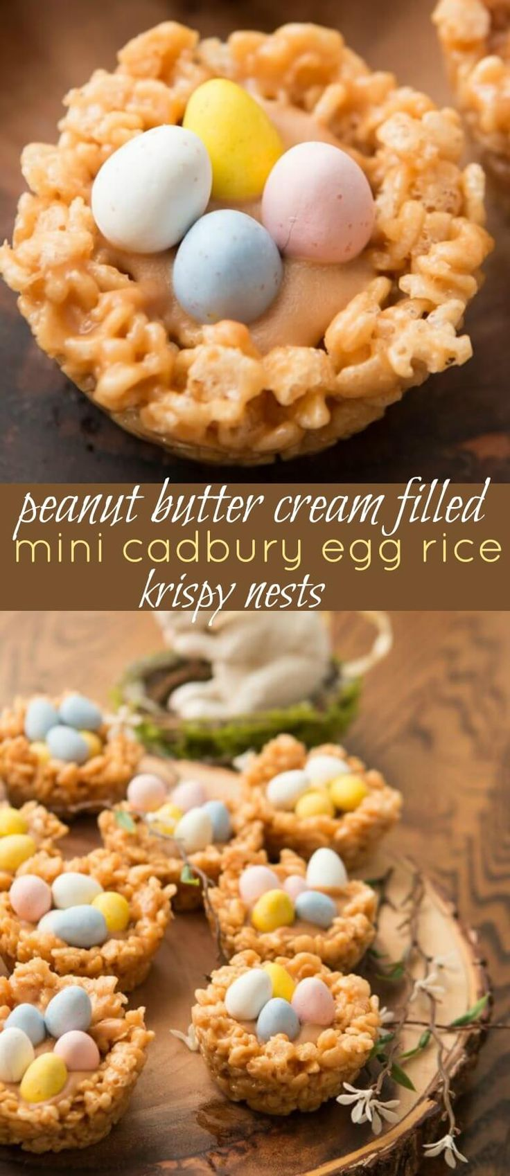 Peanut butter rice krispy nests are not only fun to make for the little ones but they're so tasty too!