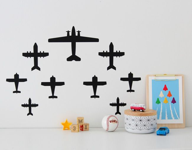 Airplanes Wall Decal – YOUR DECAL SHOP | NZ Designer Wall Art Decals | Wall Stickers | Wall Murals