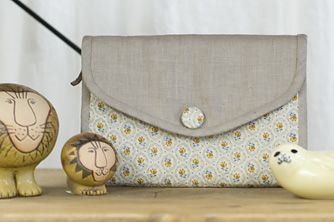Zipper purse  第99回 2冊一緒に使える母子手帳ケース|スタディオクリップ・手作り雑貨の作り方