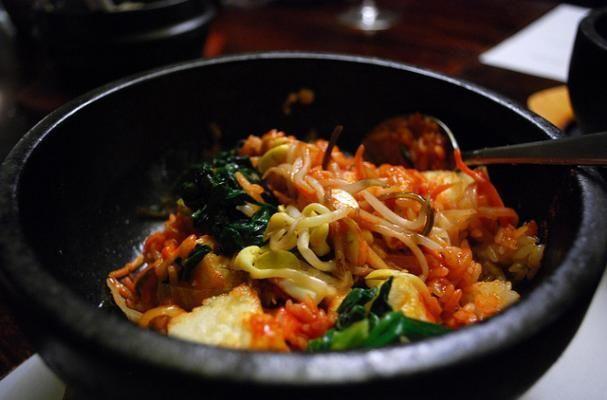 Korean Vegetable Bimbimbap--use extra tofu or veggies in place of the egg to make it vegan.