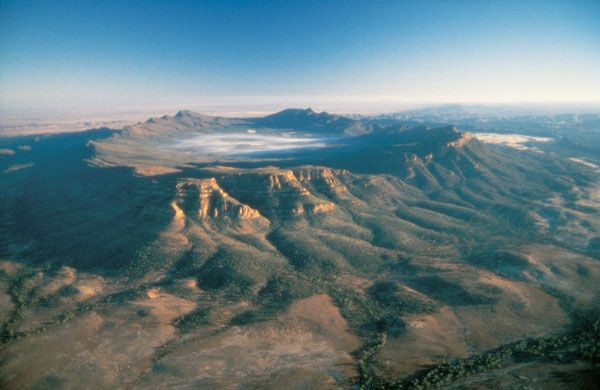 Wilpena Pound, a naturally occurring amphitheatre located in the Flinders Ranges of South Australia. Do as part of a 5 day tour - http://www.reefnoutback.com.au/tours/5-days-flinders-ranges-adventure