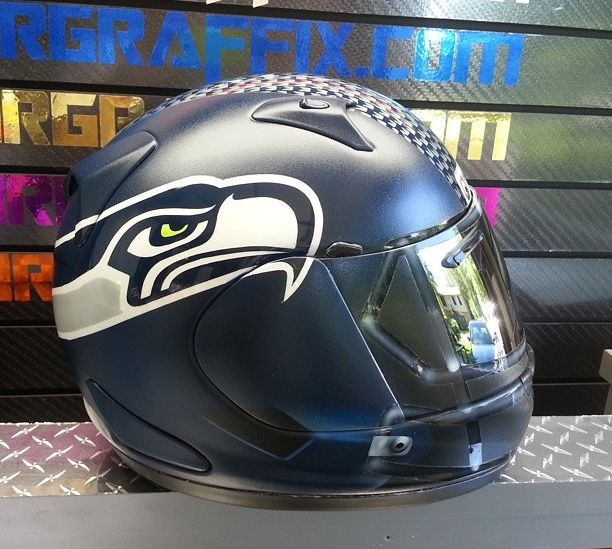 Seattle+Seahawks+themed+NFL+Football+Motorcycle+Helmet