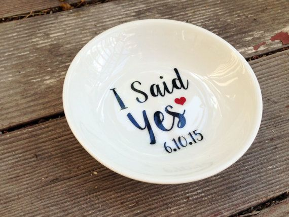 Hey, I found this really awesome Etsy listing at https://www.etsy.com/ca/listing/248300801/i-said-yes-ring-dish-with-date-custom