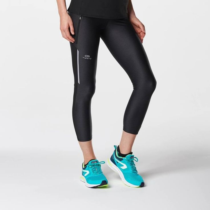 GROUPE 6 Femme - LEGGING 7/8 RUN DRY+ NOIR KALENJI - Sports