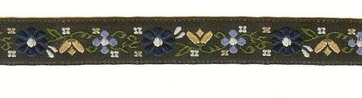 Jacquard Ribbon Trim, Floral 72, Various Lengths Available #Unbranded