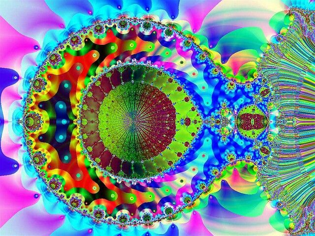 Art: Psychedelic Neon, Neon Fractal, Fractal Art, Beautiful Colours, Art Fractals, Fractal Gift, Beautiful Artwork