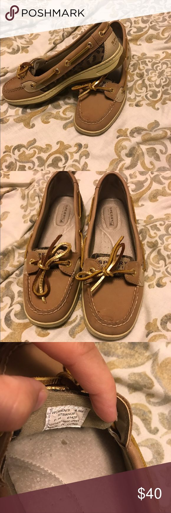Sperry Angelfish Cheetah size 6.5 Sperry Top-Sider Women's Angelfish Boat Shoe Cheetah size 6.5. Barely even worn in, basically brand new! Sperry Shoes Flats & Loafers