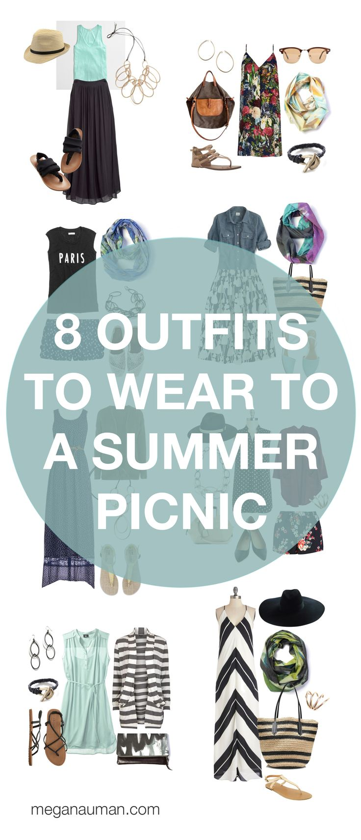 summer style: 8 outfits to wear to a picnic or barbecue // via megan auman