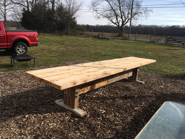 Reclaimed Barn Wood Table Made From 140 Year Old Barn. Stringer And Legs  From Reclaimed