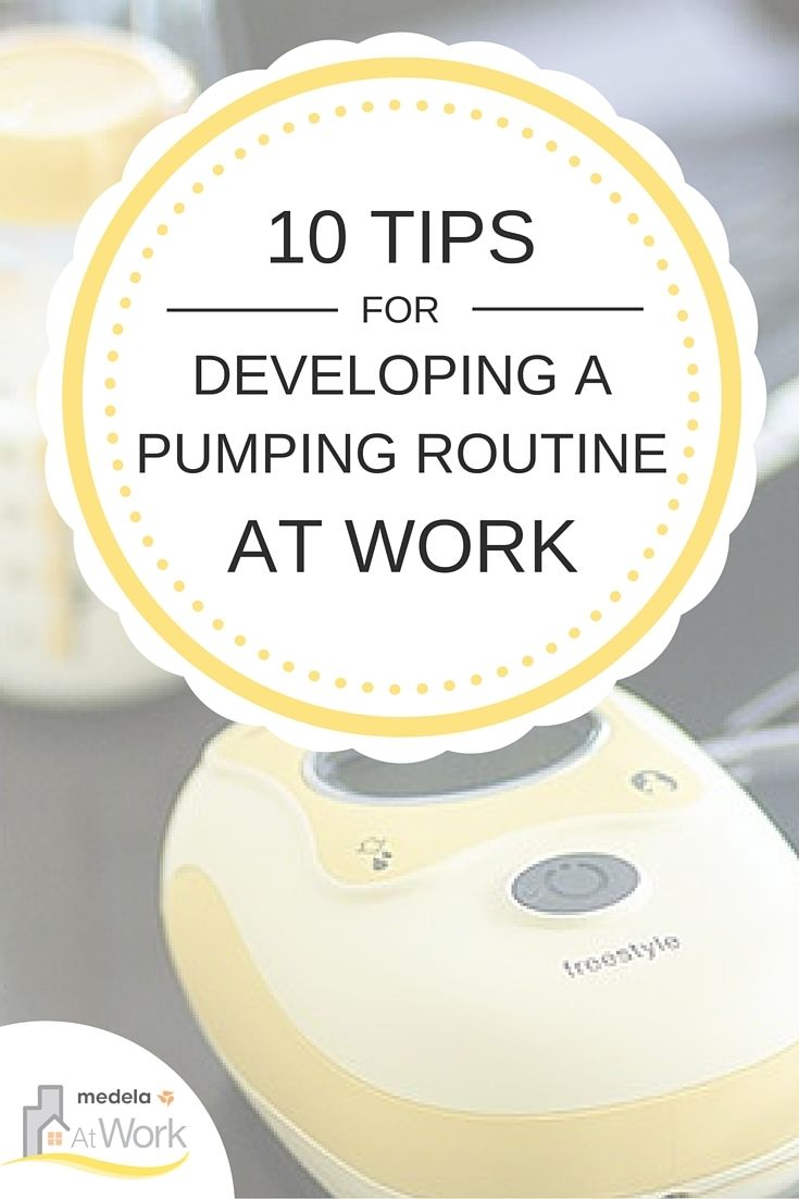 Moms, here are 10 tips for developing a pumping routine when you return to work after maternity leave.