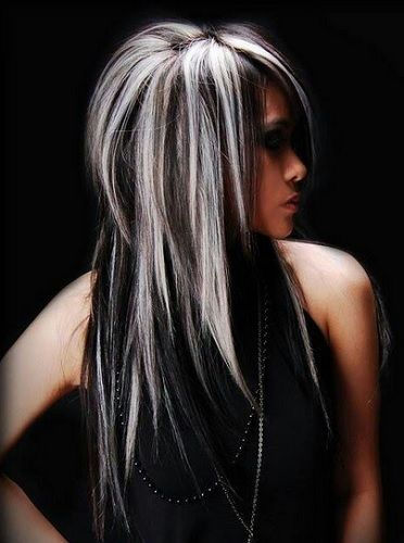 мелирование на черные волосы фото 9
