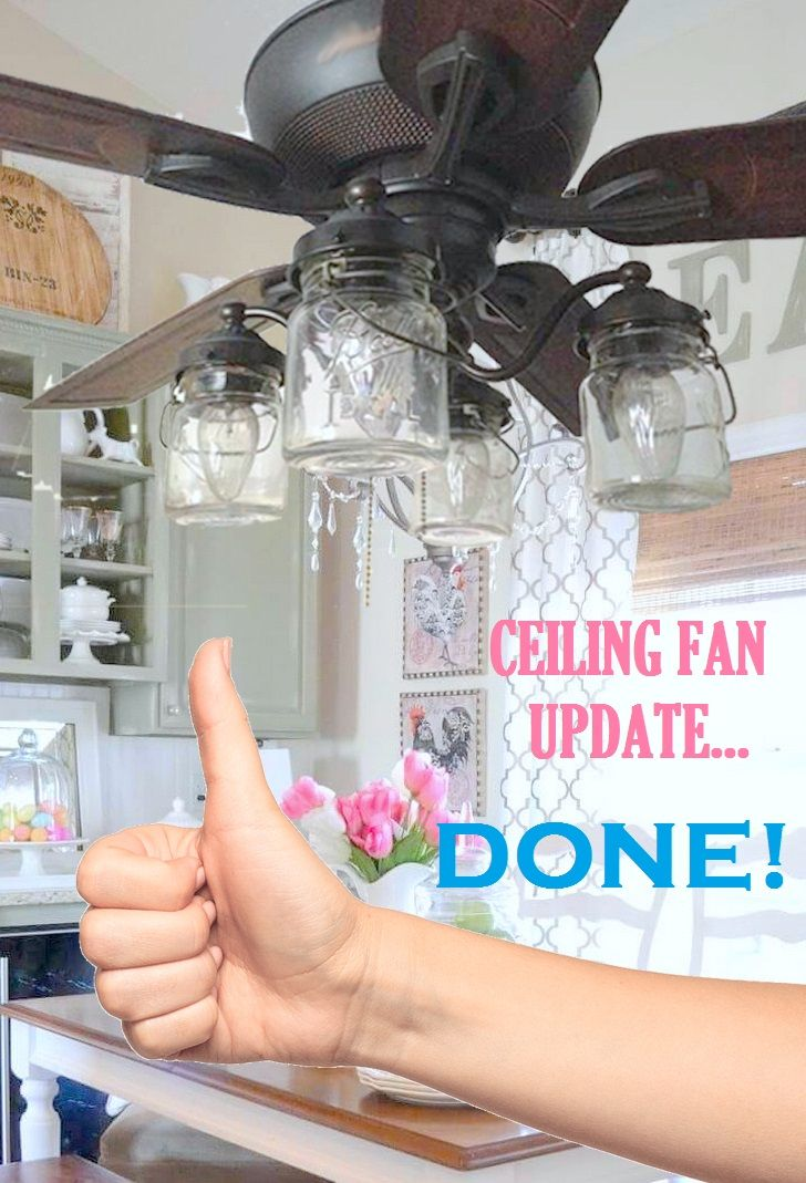Add A Charming Update To Your Existing Fan With Lamp Goods Mason Jar Light Kit Of Vintage Jar Mason Jar Lighting Mason Jar Light Fixture Ceiling Fan Light Kit