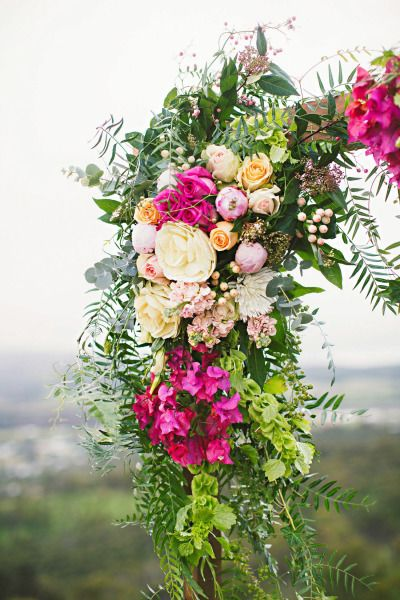 Bright florals: http://www.stylemepretty.com/australia-weddings/western-australia-au/2014/10/09/romantic-bohemian-inspiration-shoot-at-mount-brown/   Photography: Sarah Tonkin - http://www.sarahtonkin.com.au/